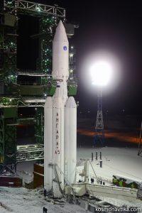 La fusée Angara-A5 sur son pas de tir à Plesetsk avant son premier vol