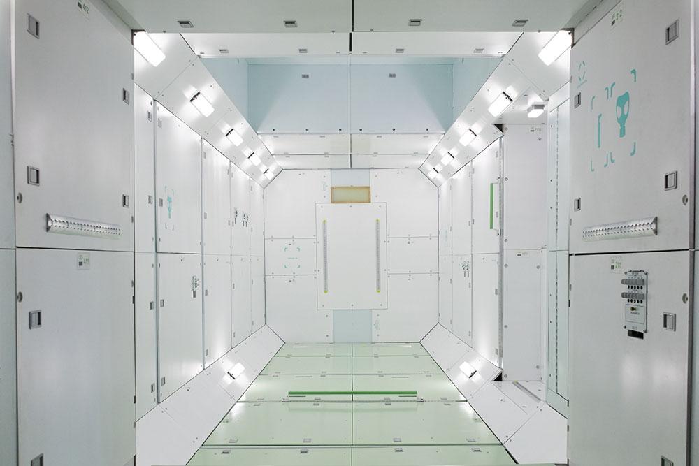 Vue d'ensemble de l'intérieur du modèle de test ergonomique installé à Energia.