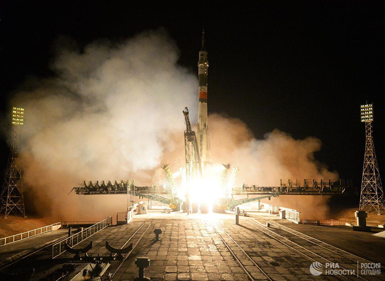 """Le pas de lancement """"Gagarine start"""" à Baïkonour."""