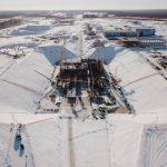 Une vue globale du pas de tir Angara à Vostochny.