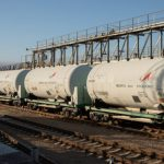 Wagons d'oxygène liquide à Baïkonour