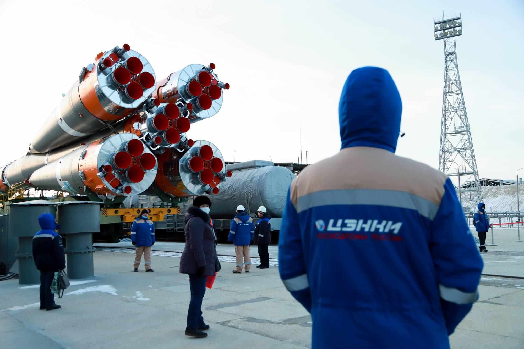 Le lanceur et Progress MS-16 arrivent sur le pas de tir 31.