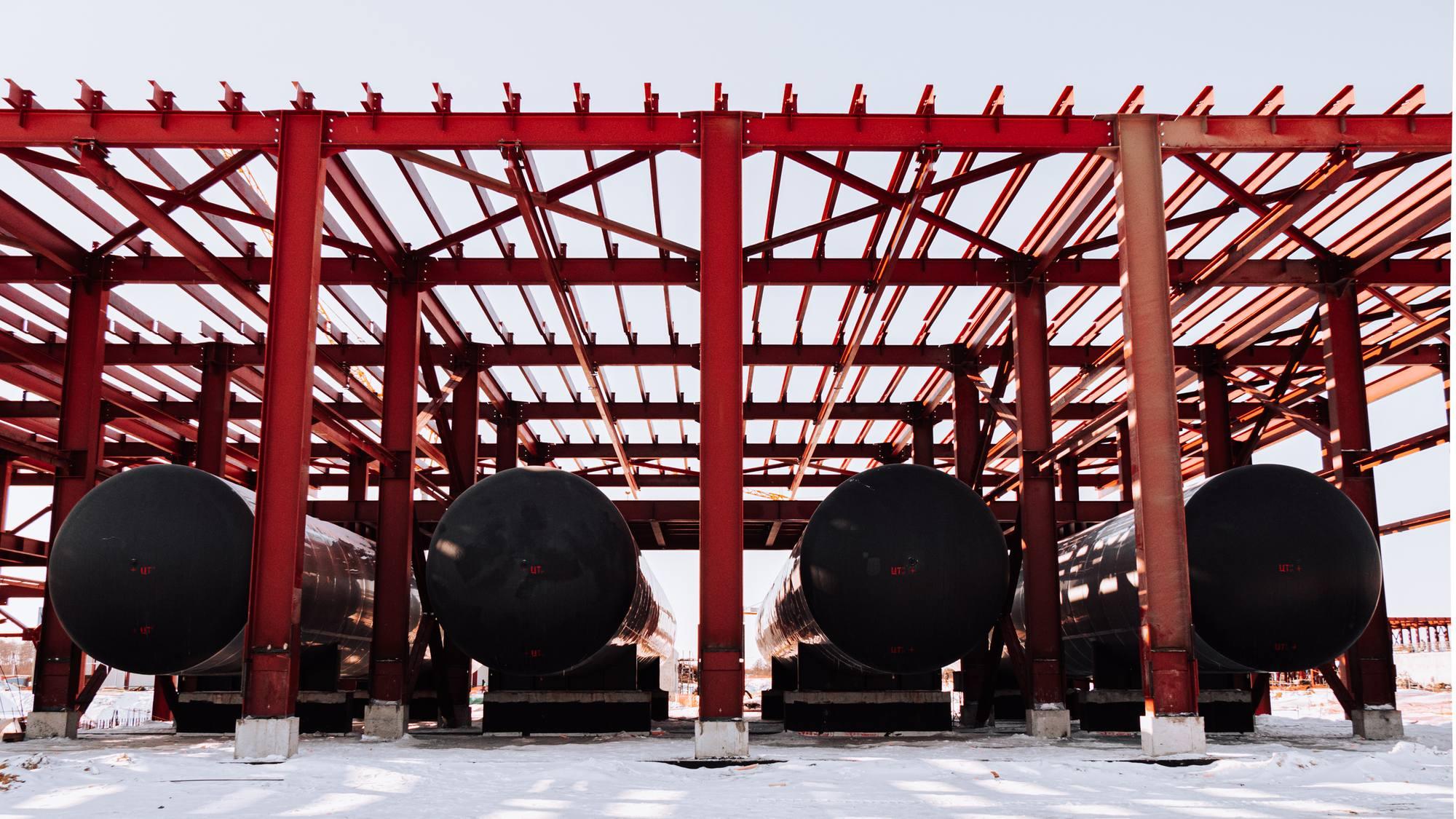 Les réservoirs de kérosène.