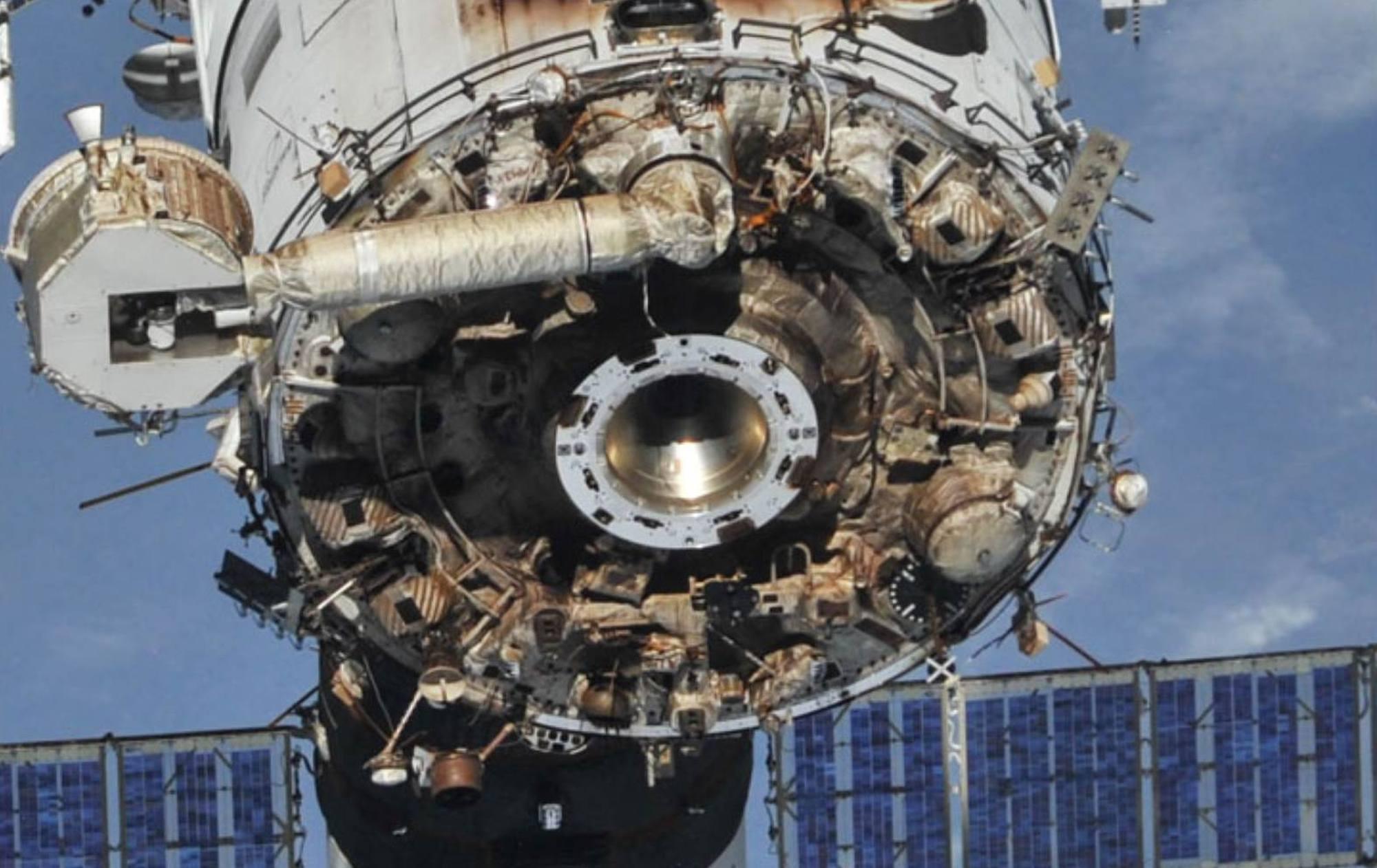 L'arrière du module Zvezda se l'ISS.
