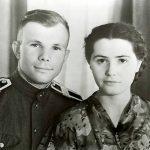 Youri Gagarine et sa femme Valentina.