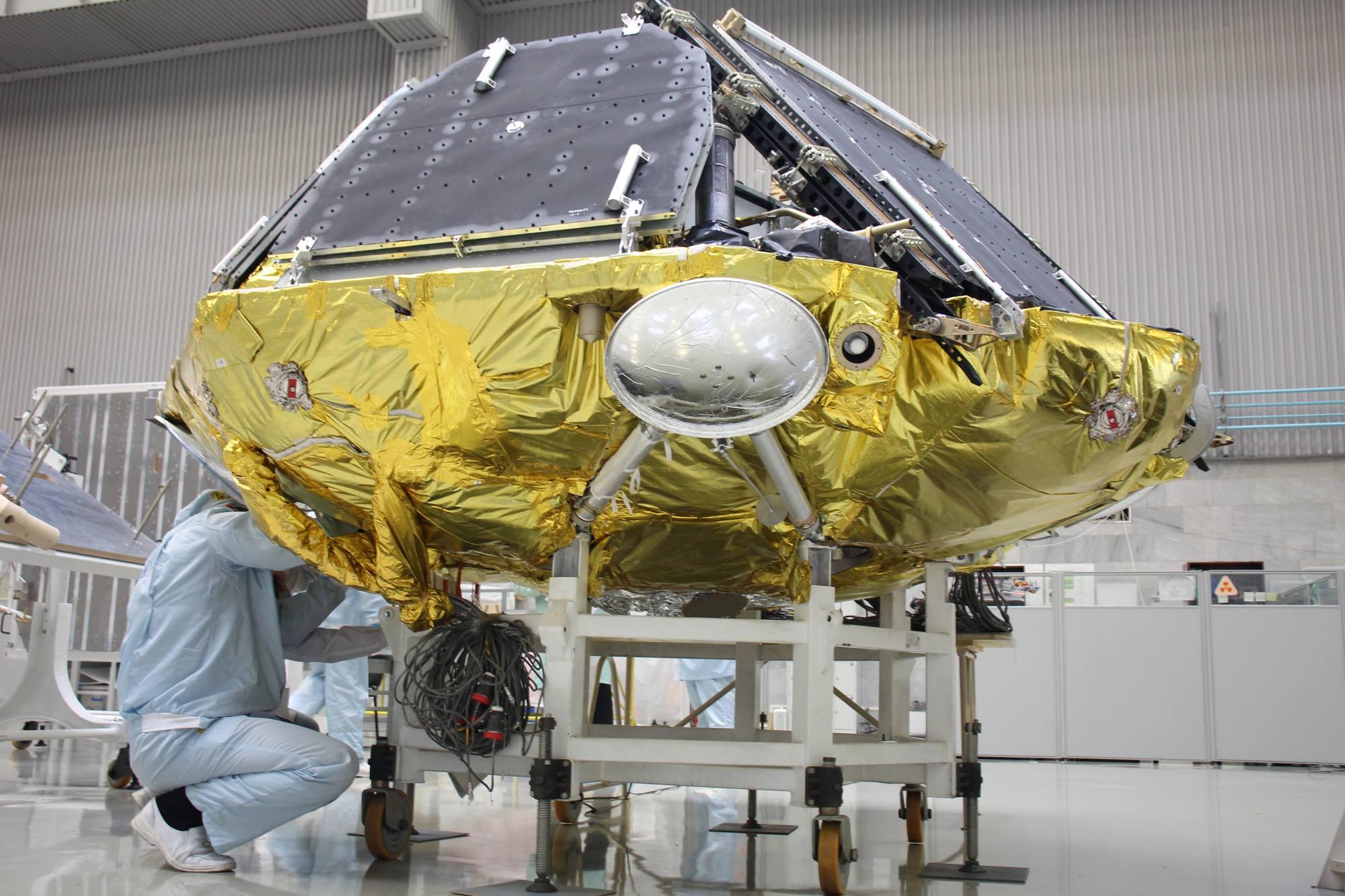 Un modèle de test au vide du module Kazachok d'ExoMars 2022.