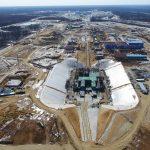 Vue globale du chantier du pas de tir Angara au cosmodrome Vostochny.