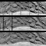 La première image du sol de Vénus obtenus par la sonde soviétique Venera-9 le 22 octobre 1975.