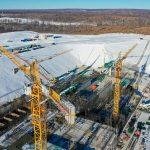 Le pas de lancement Angra en construction à Vostochny.
