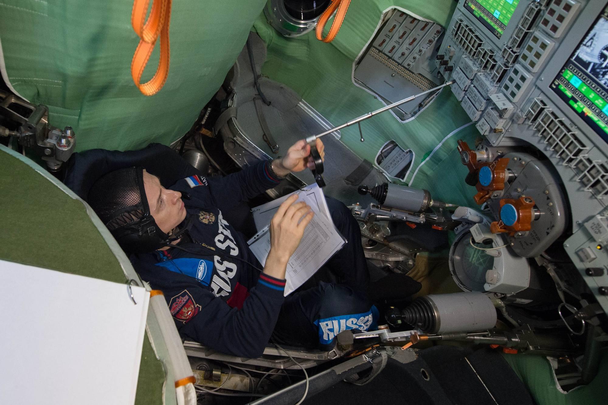 Autre test : le rendez-vous manuel fictif avec l'ISS.