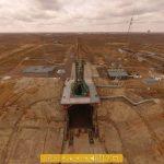 """L'image d'accueil pour la visite du pas de lancement n°1 """"Gagrinsky start"""" du cosmodrome de Baïkonour."""