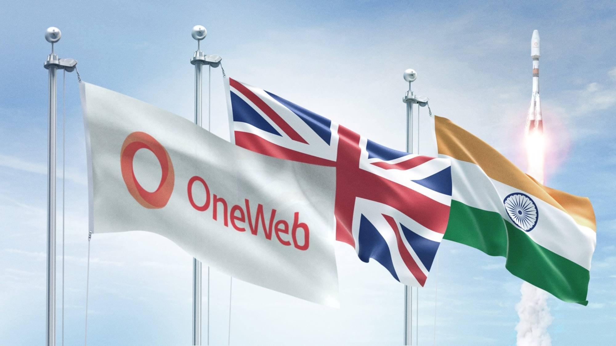 Drapeaux OneWeb, Britannique et Indien