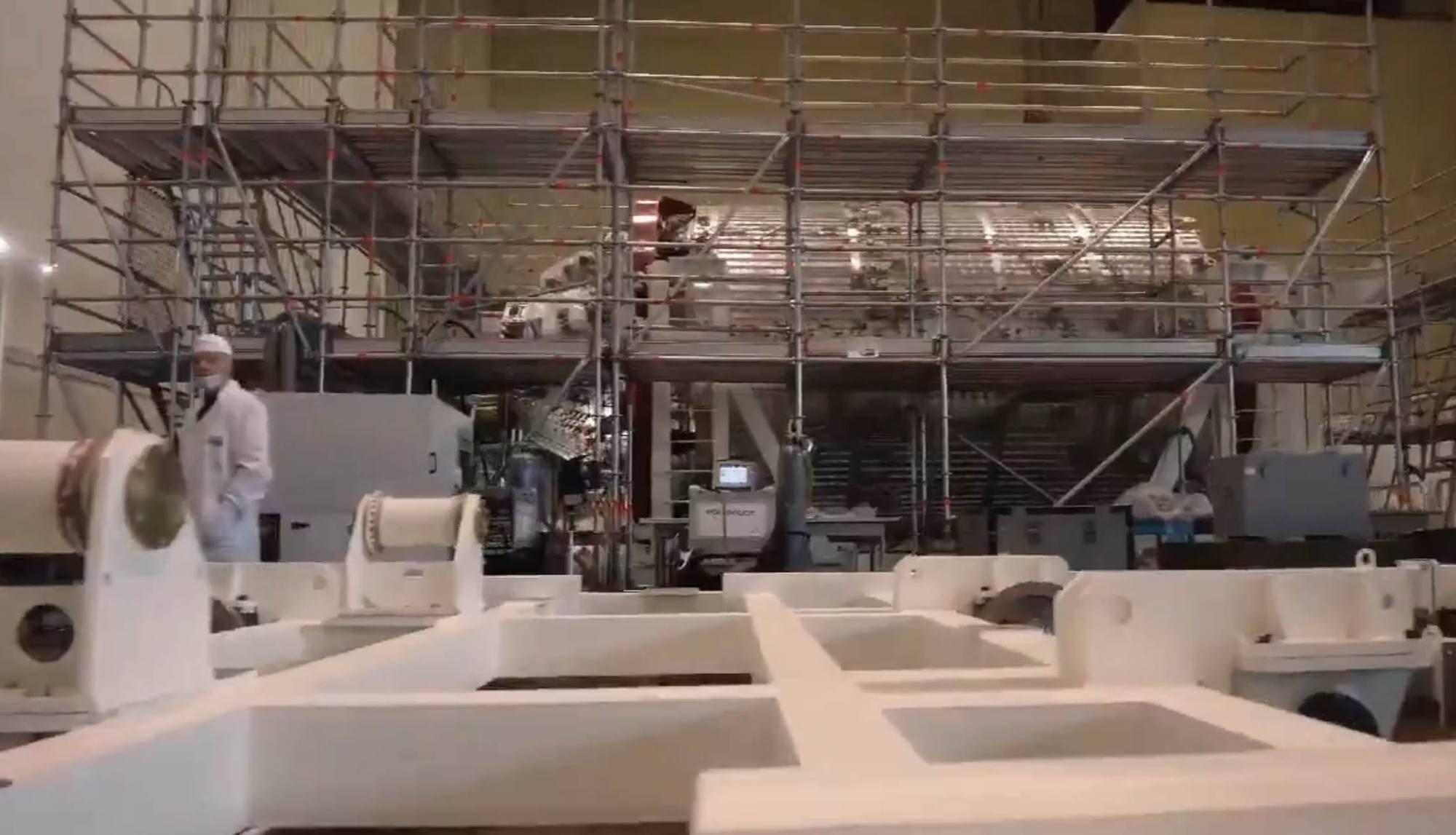 Le stand de fabrication du NEM chez Energuya.
