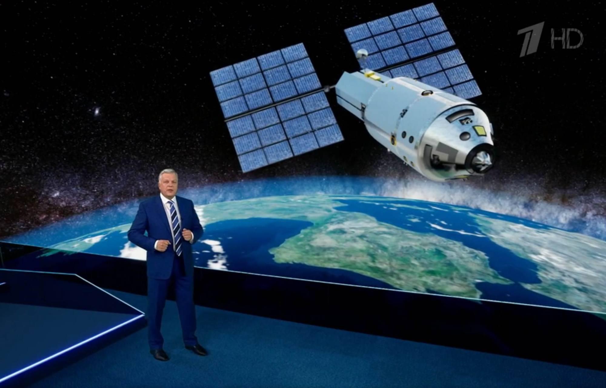 Le module NEM présenté sur la chaîne nationale russe 1Tv.