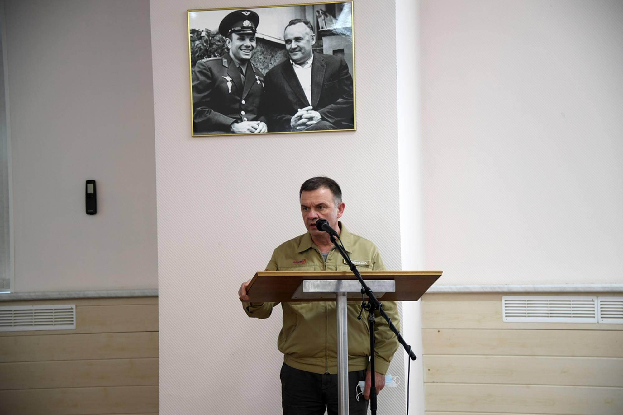 Intervention de Youri Gidzenko pour le TsPK.