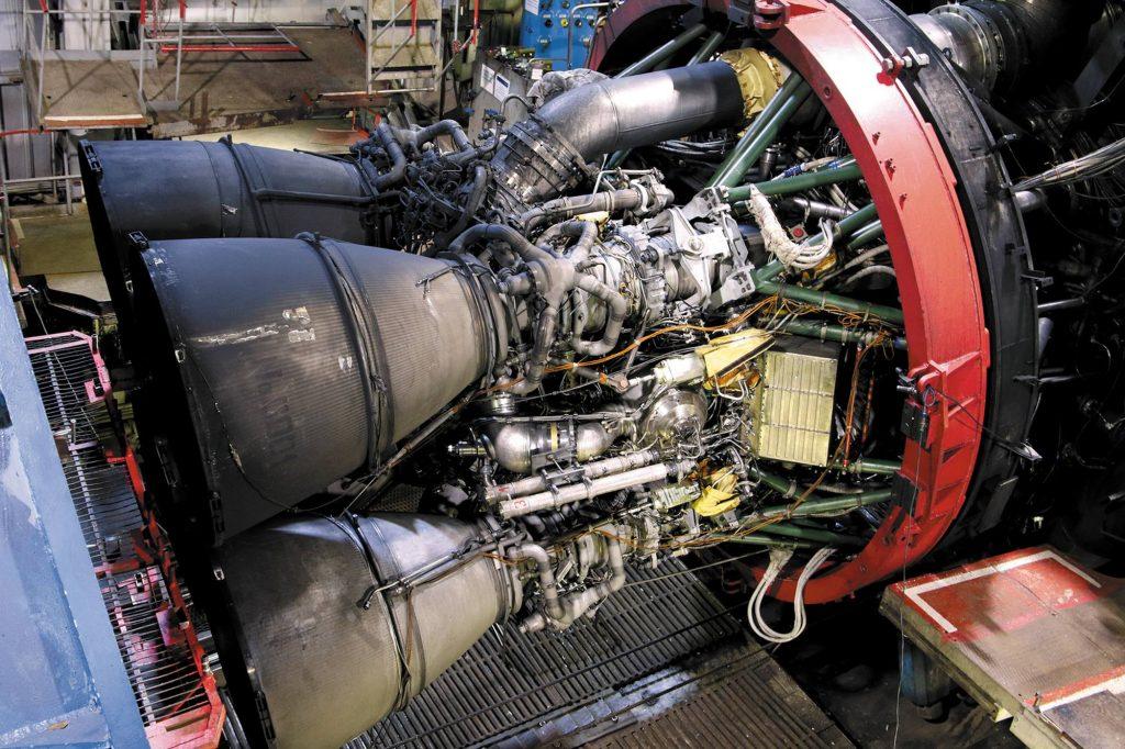 Le moteur-fusée RD-171MV.