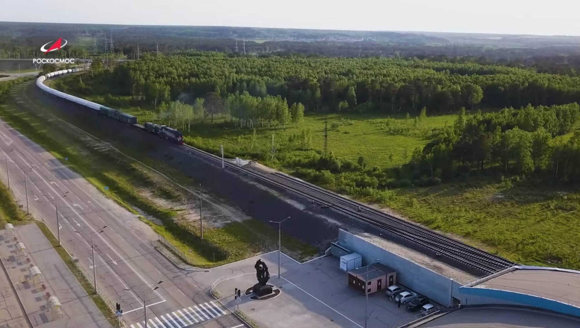 Le convoi est en gare de Tsiolkovsky (toujours le repère 2 sur le plan).