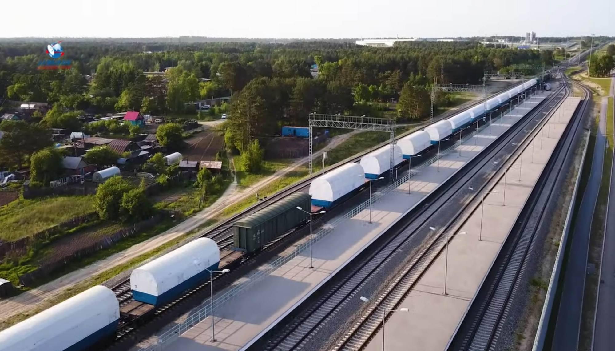 Le convoi est en gare de Tsiokovsky.