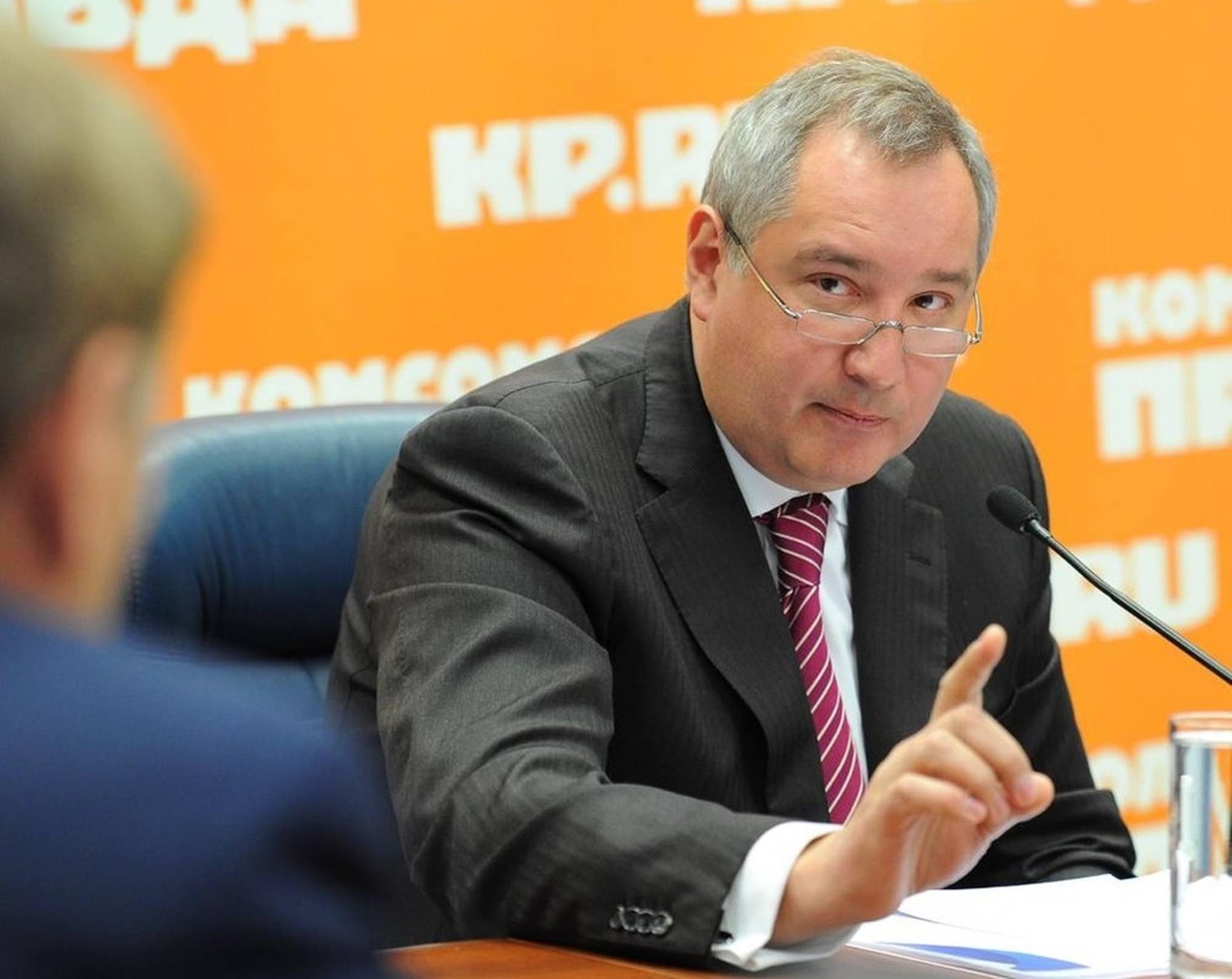 Dmitry Rogozine à Radio Komsomolskaya Pravda.