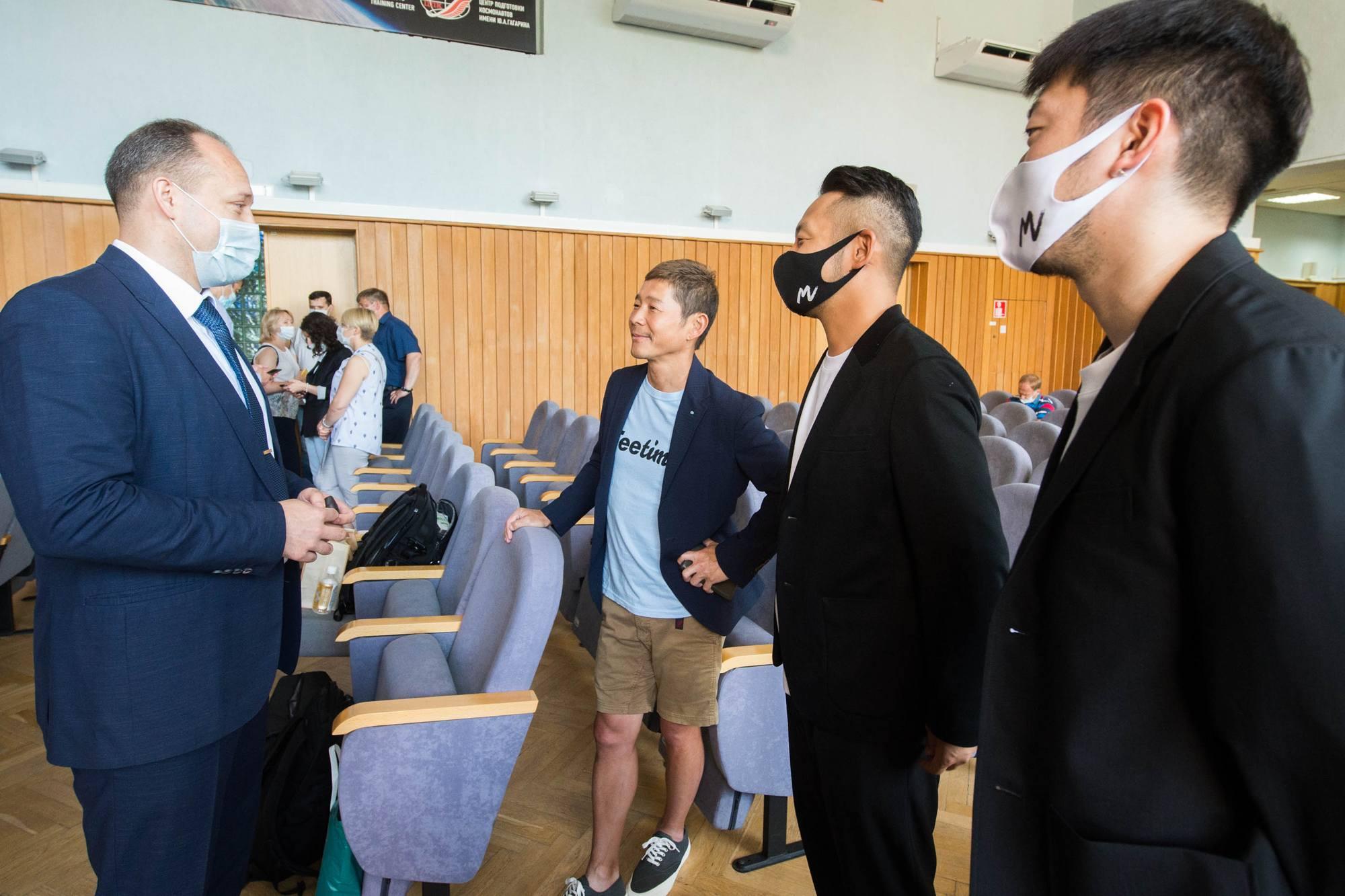 Alexandre Misourkine et les trois participants japonais.