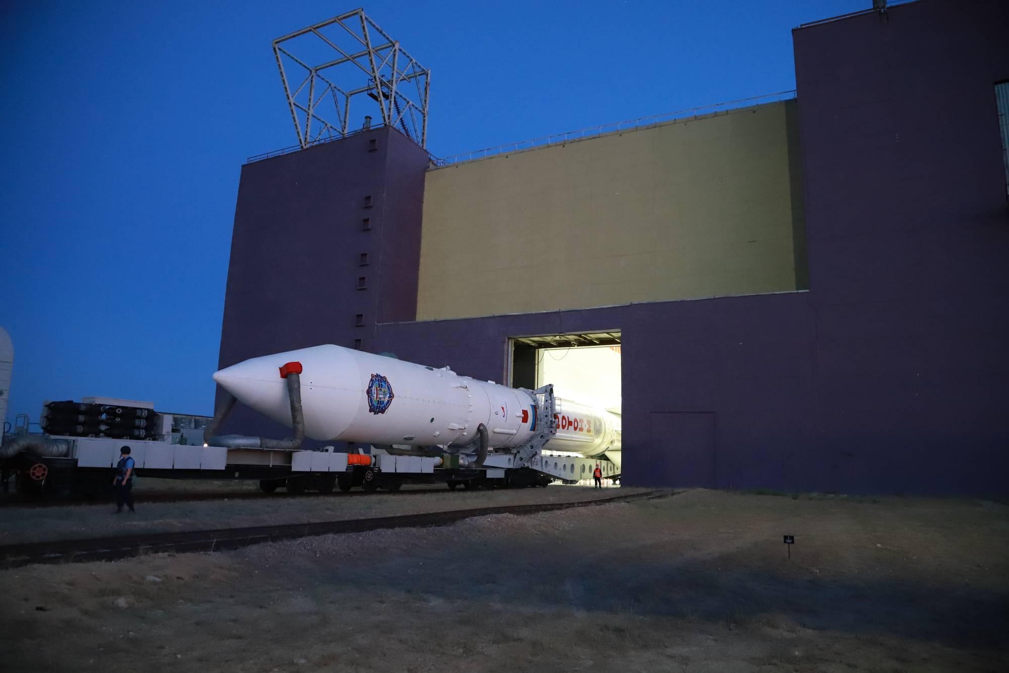 Ce matin au lever du soleil, sortie du lanceur du bâtiment 92.