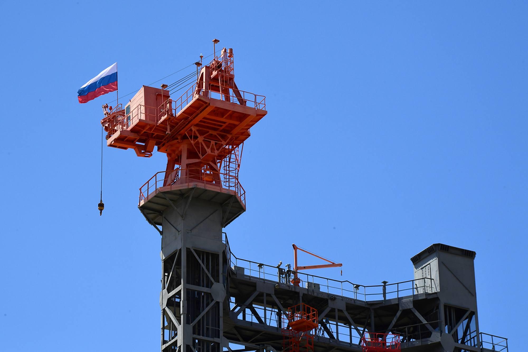 La partie supérieure de la tour mobile.