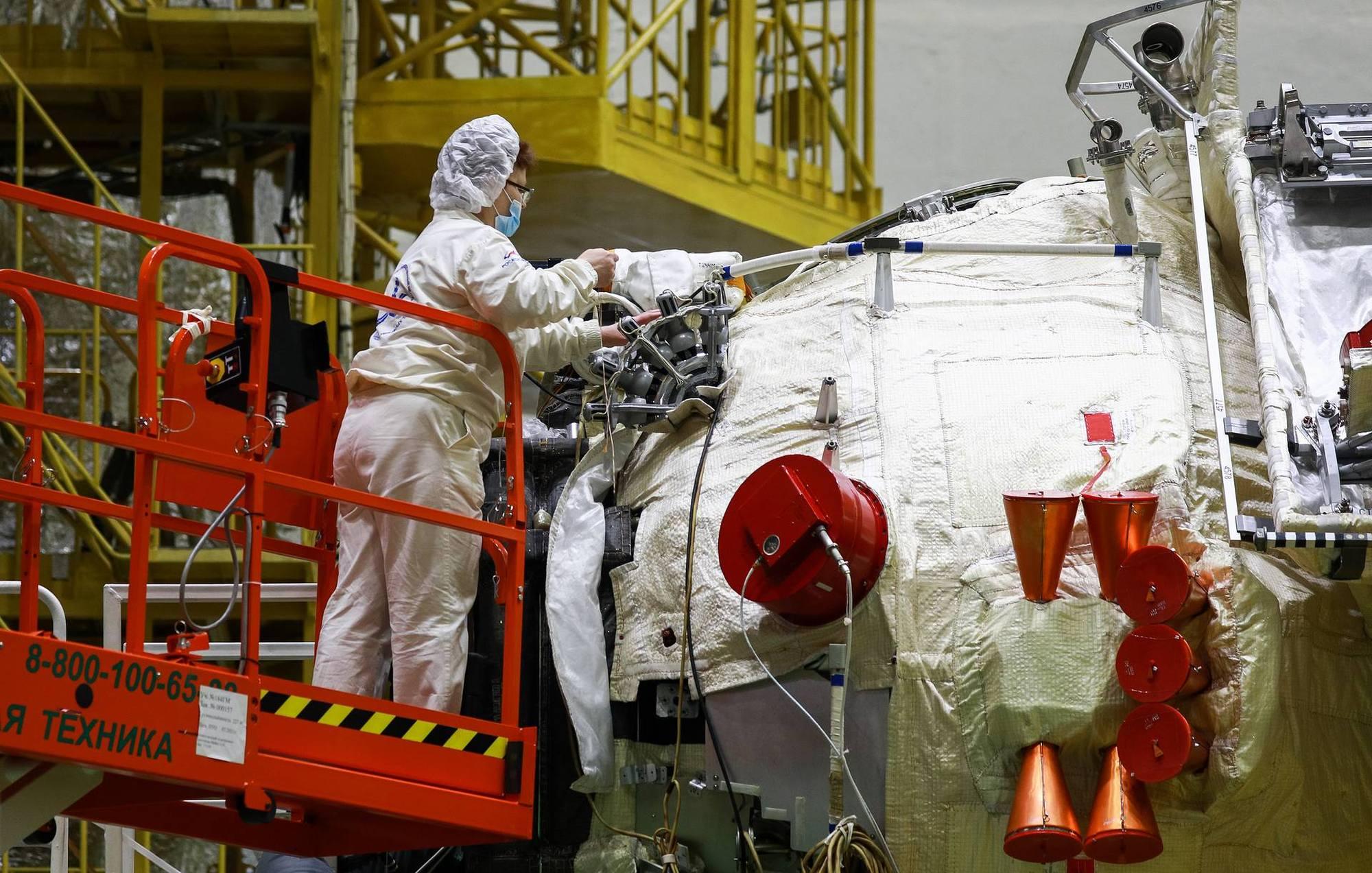 Le module Naouka en avril 2021 à Baïkonour