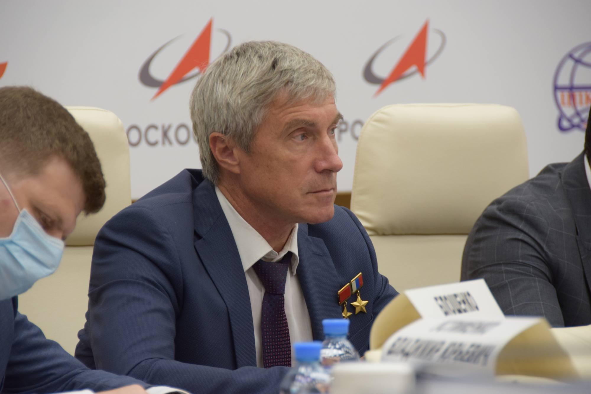 Sergueï Krikalyov, ancien cosmonaute soviétique puis russe, et directeur exécutif des programmes spatiaux habités de la société d'État Roscosmos.
