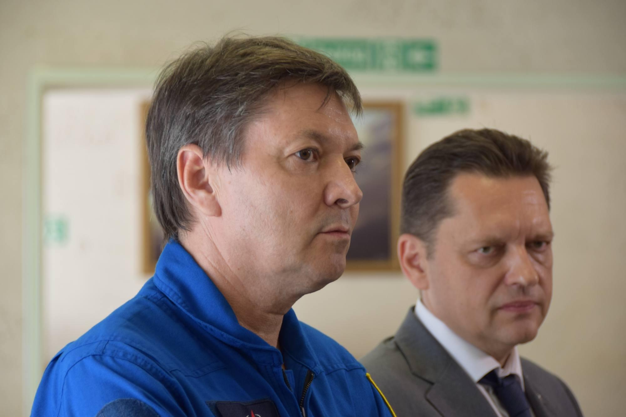 De droite à gauche, le DG et le vice-DG du TsPK, respectivement Maxime Kharlamov et Oleg Kononenko.