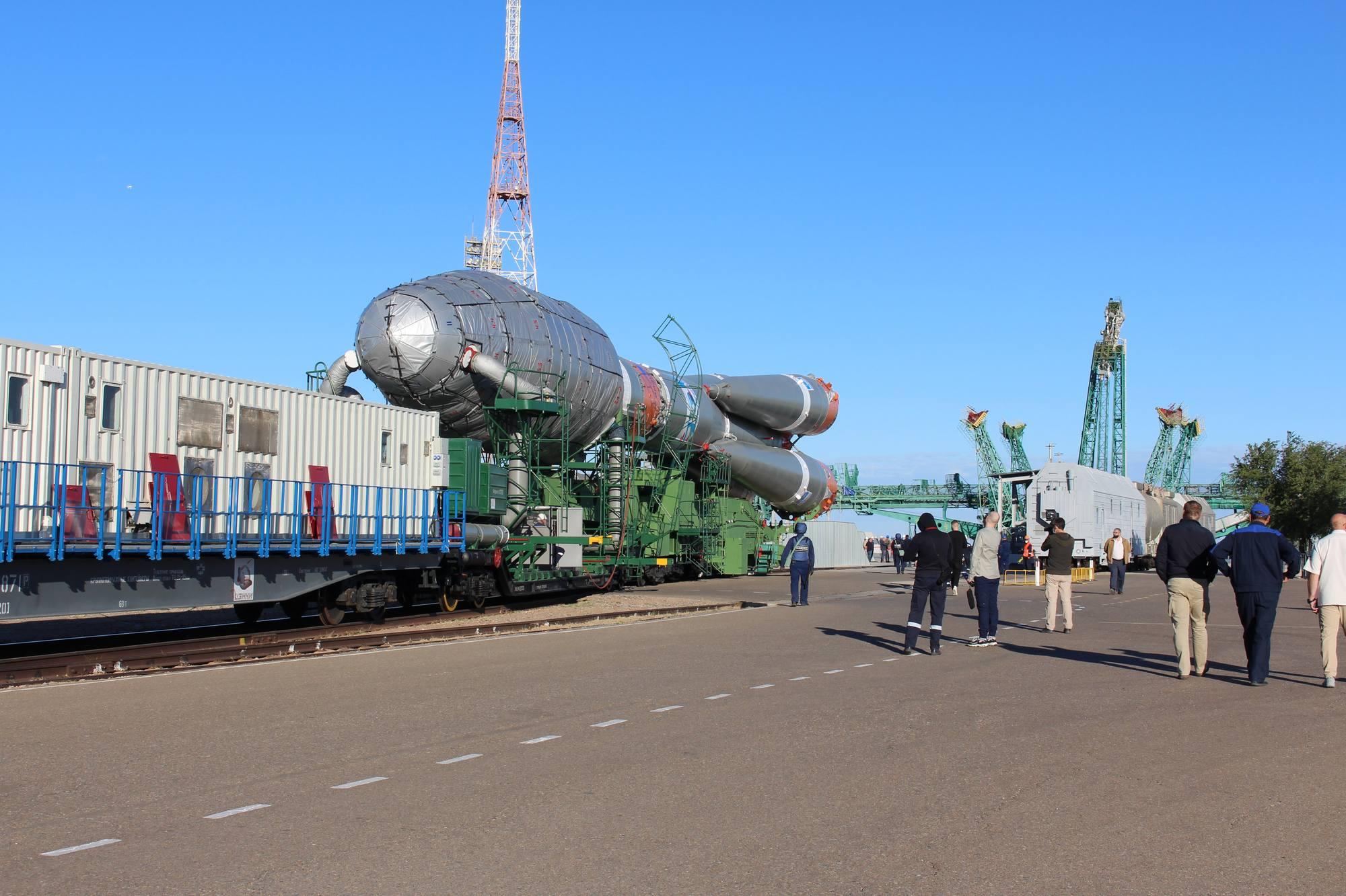 Arrivée sur le pas de tir Vostok (31/6).